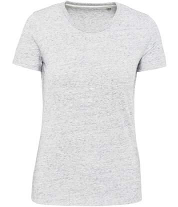 T-shirt manches courtes vintage - KV2107 - blanc chiné ash - femme