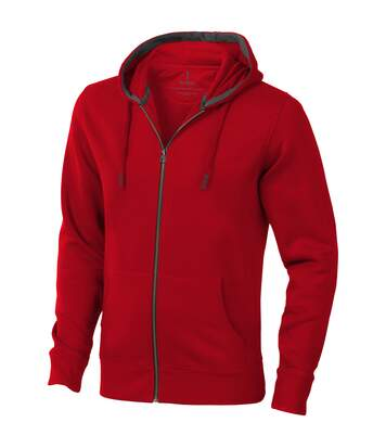 Elevate Mens Arora Hooded Full Zip Sweater (Red) - UTPF1850