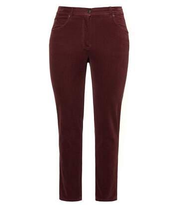 Pantalon Sophie, velours, étroit, ceinture stretch