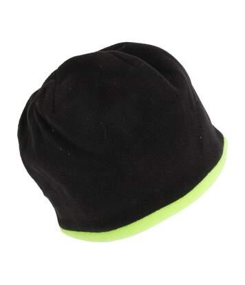 Proclimate - Bonnet Réversible Haute Visibilité - Adulte Mixte (Noir/Jaune fluo) - UTHVIS101