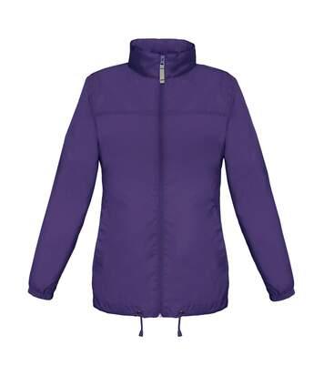 Coupe vent imperméable femme - JW902 - violet pourpre