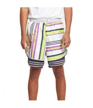 Short Homme rayé Blanc Adidas by Kolor