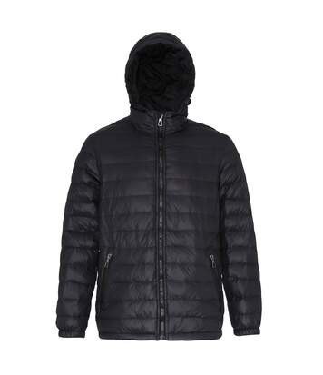 2786 Mens Hooded Water & Wind Resistant Padded Jacket (Black/Black) - UTRW3424