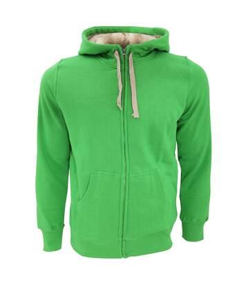 SOLS Sherpa Unisex Zip-Up Hooded Sweatshirt / Hoodie (Bud Green) - UTPC512