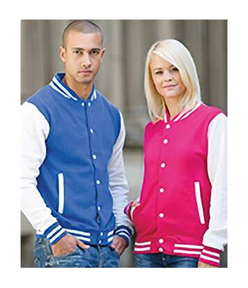 Awdis Unisex Varsity Jacket (Sapphire Blue/ Heather Grey) - UTRW175
