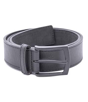Duke Mens Ozzy Matte Leather Belt (Black) - UTDC259