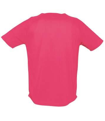SOLS Mens Sporty Short Sleeve Performance T-Shirt (Neon Pink) - UTPC303
