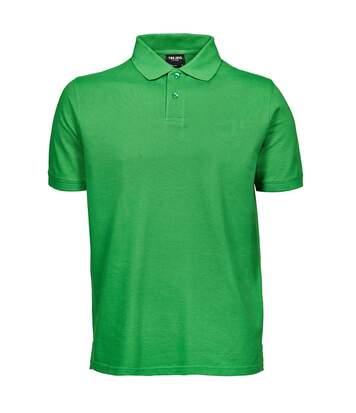 Tee Jays Mens Heavy Pique Short Sleeve Polo Shirt (Spring Green) - UTBC3301