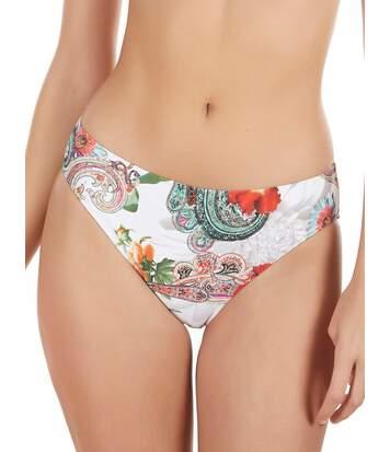 Bas maillot de bain bikini Cachemire blanc Selmark Mare