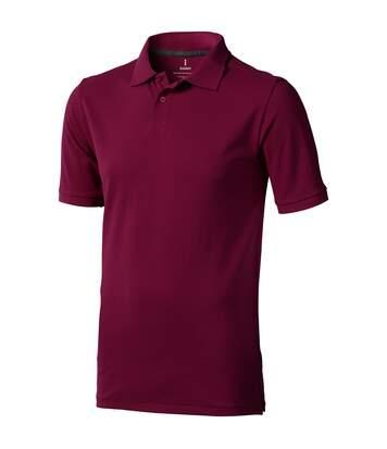 Elevate Mens Calgary Short Sleeve Polo (Burgundy) - UTPF1816
