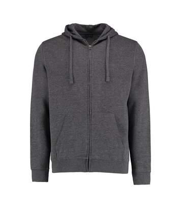 Kustom Kit Mens Full Zip Hooded Sweatshirt (Dark Grey Marl) - UTBC3726