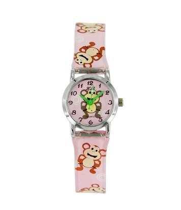 Montre enfant Fille PTITEFILLE bracelet Silicone Rose