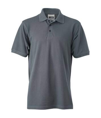 Polo homme workwear - JN830 - gris carbone