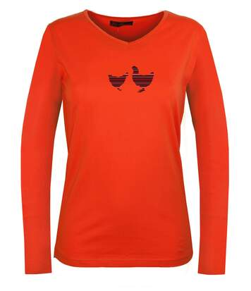 NAPOLI1 TEE SHIRT ML ORANGE
