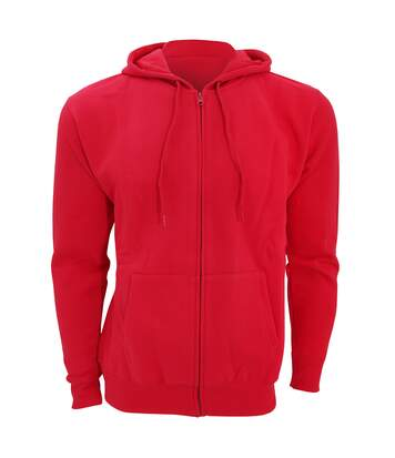 SOLS Mens Seven Full Zip Hooded Sweatshirt / Hoodie (Red) - UTPC340