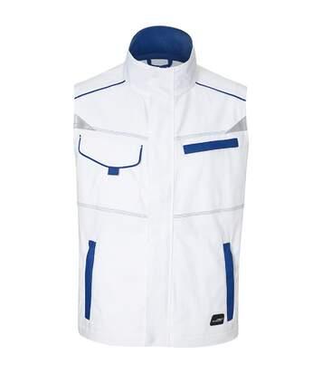 Veste gilet de travail sans manches - JN850 - blanc