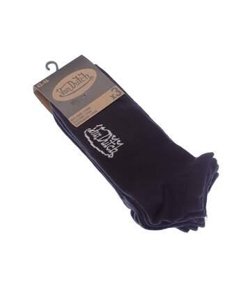 Chaussette Mini-chaussettes - Lot de 3 - Sans bouclette - Fine - Coton - Noir