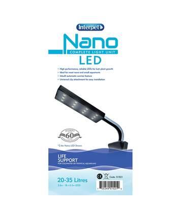 Interpet - Unité D'éclairage - Aquarium (Blanc) (20-35 Litres) - UTVP3023