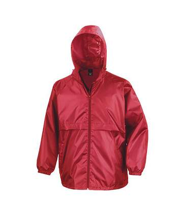 Result Mens Core Adult Windcheater Water Repellent Windproof Jacket (Red) - UTBC897