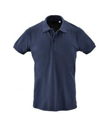 SOLS Mens Phoenix Short Sleeve Pique Polo Shirt (Heather Denim) - UTPC2782