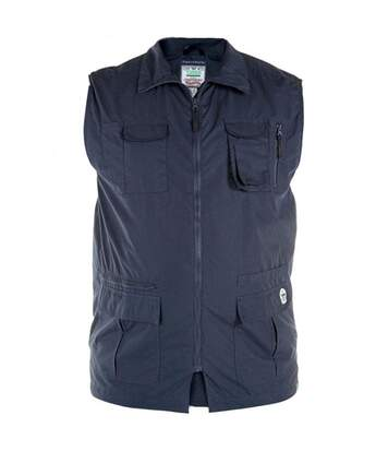 Duke Mens Enzo Kingsize Multi Pocket Hunting Waistcoat (Navy) - UTDC200