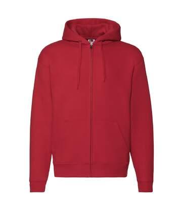Fruit Of The Loom Mens Zip Through Hooded Sweatshirt / Hoodie (Red) - UTBC360