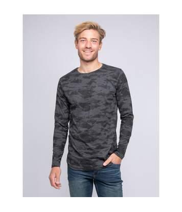 T-shirt col rond manches longues pur coton motif camouflage KJ JINGLE - KAPSULE
