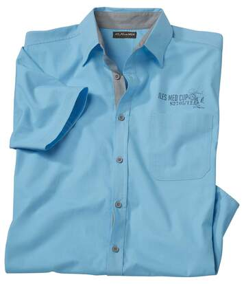 Men's Turquoise Short Sleeve Shirt