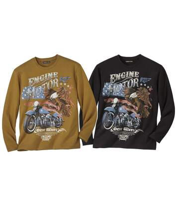 2er-Pack Longsleeves West Riders