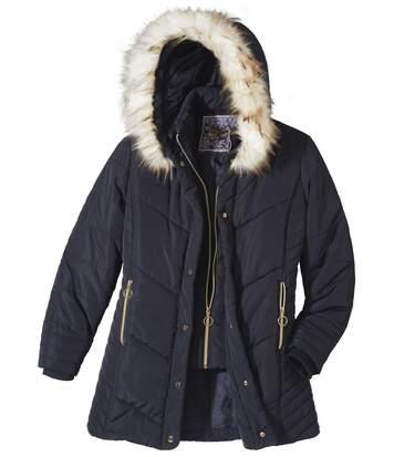 Удлиненная Куртка с Капюшоном фото