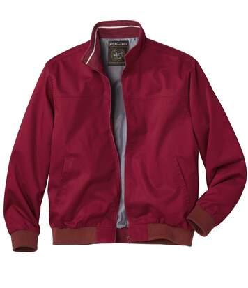 Bordeauxfarbene Jacke aus Twill