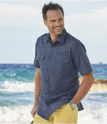 Men's Blue Expedition Aviator Shirt