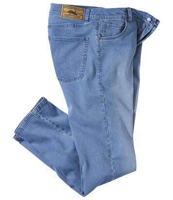 Hellblaue Stretch-Jeans