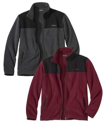Pack of 2 Men's Polar Explorer Jackets - Bordeaux Grey