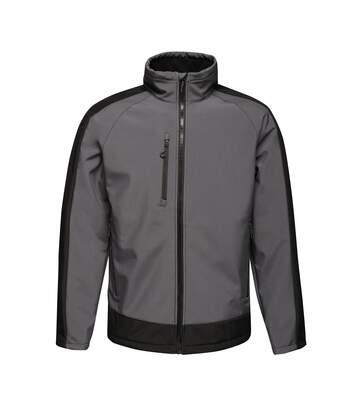 Regatta Contrast Mens 3-Layer Printable Softshell Jacket (Seal/Black) - UTRW6355
