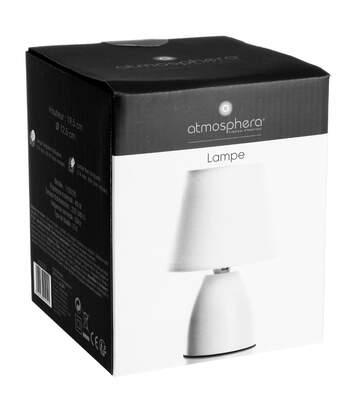 Atmosphera - Lampe de chevet blanc H19.5