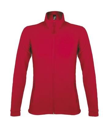Veste micropolaire zippée femme - 00587 - rouge