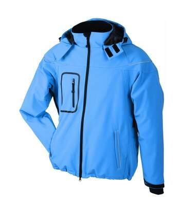 Veste softshell hiver Homme - JN1000 - Bleu aqua