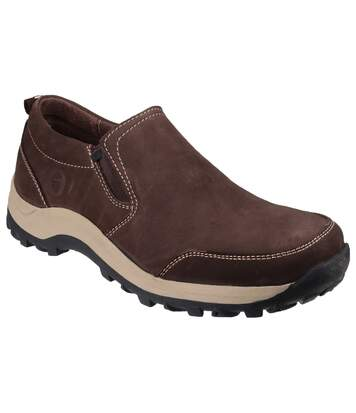 Cotswold Mens Sheepscombe Slip On Twin Gusset Shoes (Brown) - UTFS3465