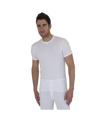 Mens Thermal Underwear Short Sleeve T Shirt Polyviscose Range (British Made) (White) - UTTHERM2