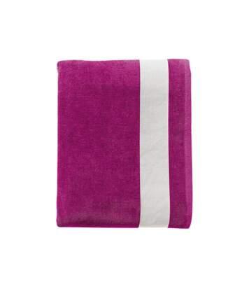 Drap de plage ou drap de bain - 89006 - rose - coton velours
