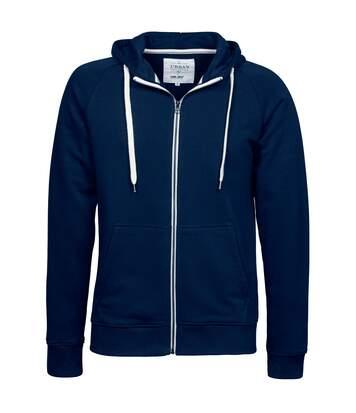 Tee Jays - Sweatshirt À Capuche Et Fermeture Zippée - Homme (Bleu marine) - UTBC3315