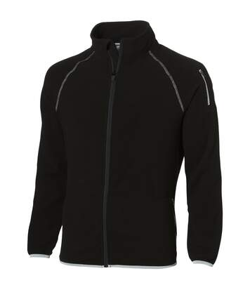 Slazenger Mens Drop Shot Full Zip Micro Fleece Jacket (Solid Black) - UTPF1795