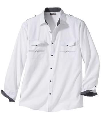 Pilóta stílusú fehér felfedező ing