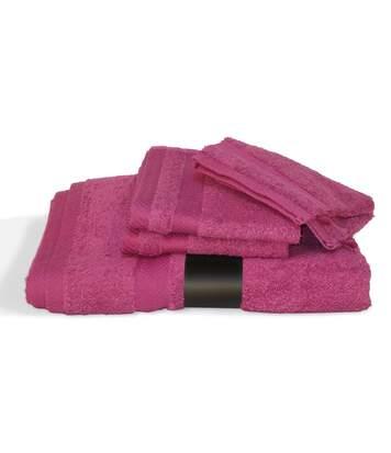 Parure de bain 5 pièces ROYAL CRESENT Rose Vin 650 g/m2