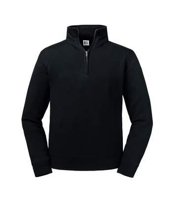 Russell Mens Authentic Zip Neck Sweatshirt (Black) - UTPC4069