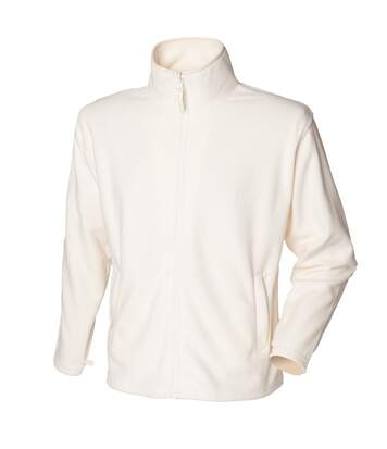 Henbury Mens Microfleece Anti-Pill Jacket (Cream) - UTRW678