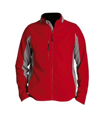 SOLS Mens Nordic Full Zip Contrast Fleece Jacket (Red/Medium Grey) - UTPC409