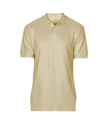 Gildan Softstyle Mens Short Sleeve Double Pique Polo Shirt (Sand) - UTBC3718
