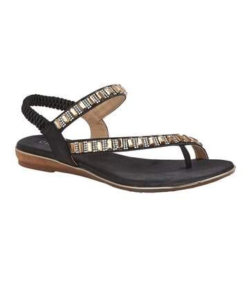 Cipriata Womens/Ladies Rita Jewelled Sandals (Black) - UTDF1924